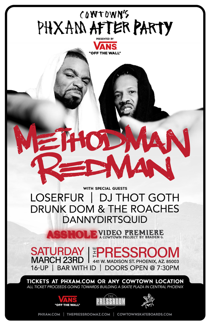 COWTOWN's 18TH PHXAM AFTER PARTY WILL FEATURE METHOD MAN & REDMAN